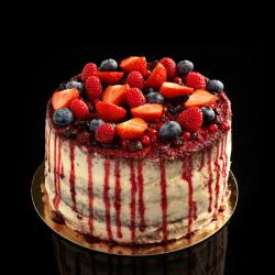 Naked Cake - Rode vruchten