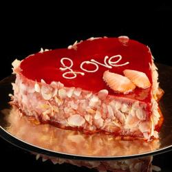 Valentijnshart aardbei