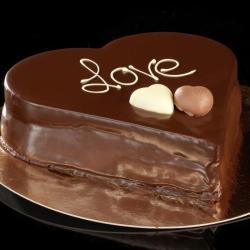 valentijnshart chocolade