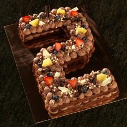 Cijfertaart chocolade